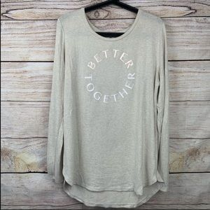 Old Navy Super Soft Graphic Crewneck Long Sleeve